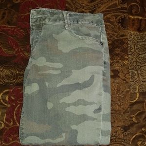 Camo vanilla star stretch jeans
